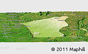 Physical Panoramic Map of Chu Prong, satellite outside