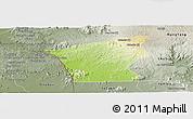 Physical Panoramic Map of Chu Prong, semi-desaturated