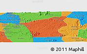 Political Panoramic Map of Chu Prong