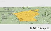 Savanna Style Panoramic Map of Chu Prong