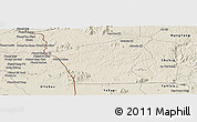 Shaded Relief Panoramic Map of Chu Prong