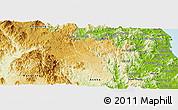 Physical Panoramic Map of Kbang