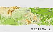 Physical Panoramic Map of Kon Chro
