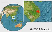 Satellite Location Map of Gia Lai