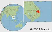 Savanna Style Location Map of Gia Lai