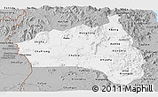 Gray Panoramic Map of Gia Lai