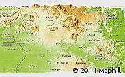 Physical Panoramic Map of Gia Lai