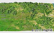 Satellite Panoramic Map of Gia Lai