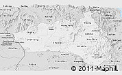 Silver Style Panoramic Map of Gia Lai