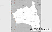 Gray Simple Map of Gia Lai
