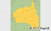 Savanna Style Simple Map of Gia Lai