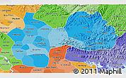 Political Shades 3D Map of Ha Bac