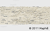 Shaded Relief Panoramic Map of Luc Ngan