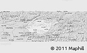 Silver Style Panoramic Map of Luc Ngan