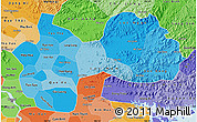Political Shades Map of Ha Bac