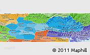 Political Shades Panoramic Map of Ha Bac