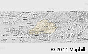 Shaded Relief Panoramic Map of Son Dong, desaturated