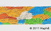 Shaded Relief Panoramic Map of Son Dong, political outside