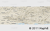 Shaded Relief Panoramic Map of Son Dong