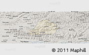 Shaded Relief Panoramic Map of Son Dong, semi-desaturated