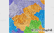 Political Shades 3D Map of Ha Giang