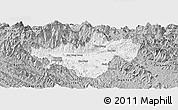 Gray Panoramic Map of Bac Quang
