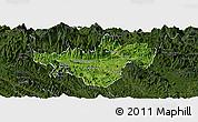 Satellite Panoramic Map of Bac Quang, darken