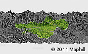 Satellite Panoramic Map of Bac Quang, desaturated