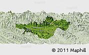 Satellite Panoramic Map of Bac Quang, lighten