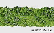 Satellite Panoramic Map of Bac Quang