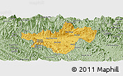 Savanna Style Panoramic Map of Bac Quang