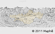 Shaded Relief Panoramic Map of Bac Quang, desaturated
