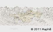 Shaded Relief Panoramic Map of Bac Quang, lighten
