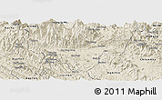 Shaded Relief Panoramic Map of Bac Quang