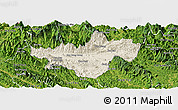 Shaded Relief Panoramic Map of Bac Quang, satellite outside