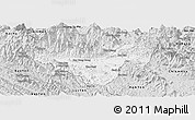 Silver Style Panoramic Map of Bac Quang