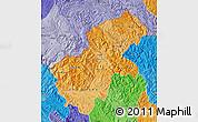 Political Shades Map of Ha Giang