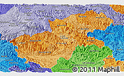 Political Shades Panoramic Map of Ha Giang
