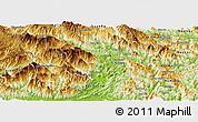 Physical Panoramic Map of Vi Xuyen