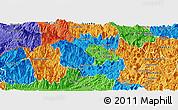 Political Panoramic Map of Vi Xuyen