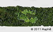 Satellite Panoramic Map of Vi Xuyen, darken