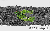 Satellite Panoramic Map of Vi Xuyen, desaturated