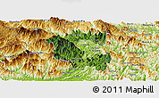 Satellite Panoramic Map of Vi Xuyen, physical outside
