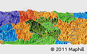 Satellite Panoramic Map of Vi Xuyen, political outside