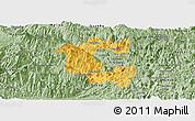 Savanna Style Panoramic Map of Vi Xuyen