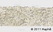 Shaded Relief Panoramic Map of Vi Xuyen