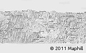 Silver Style Panoramic Map of Vi Xuyen