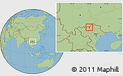 Savanna Style Location Map of Xin Man