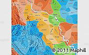 Political Shades Map of Ha Tay