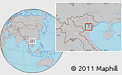 Gray Location Map of Ung Hoa